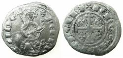 World Coins - CRUSADER STATES.CYPRUS.Henry II AD 1285-1324.AR.Gros Petit. Series II. Reverse. DE ChI