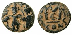 Ancient Coins - PSEUDO BYZANTINE.Imitative follis ( fals ) After Constans II AD 641-668. Type issued AD 655/6-658/9.after Mint of CONSTANTINOPLE.