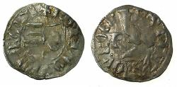 World Coins - ROMANIA.VOIVODES OF WALLACHIA. Dan I 1383-1386.Denier. Sigla Theta / P over W?