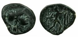 Ancient Coins - MACEDON.Antigonus II Gonatas 227-239 BC.AE. Reverse.Pan erecting trophy.