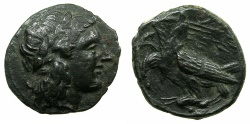 Ancient Coins - SICILY.AGRAGAS.Phinitas Tyrant 287-279 BC.AE.19.3mm