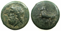 Ancient Coins - SICILY.SYRACUSE.Timoleon and 3rd Decomcracy circa 344-317 BC.AE.Dilitron.