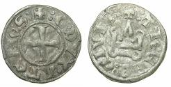 World Coins - CRUSADER STATES.Frankish Greece.Dukes of ATHENS.William I AD 1280-1287 or Guy II AD 1287-1308.Billon Denier.Variety A7.