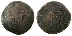 World Coins - VENICE.CANDIA (CRETE). Anonymous Emergency issue under Francesco Molin AD 1646-1655.AE.5 Lire 1650. Crete beseiged by The Ottoman Turks.