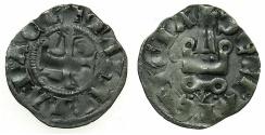World Coins - CRUSADER.Principality of ACHAIA.Mahault of Hainault AD 1316-1321.Bi.Denier.Type MA1c.