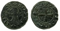 World Coins - CRUSADER STATES.Principality of ANTIOCH.Bohemond IV 2nd period 1219-1233 or Bohemond V 1233-1251.Bi.Denier.class O.
