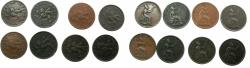 World Coins - IONIAN ISLANDS.Bristish Administration. Complete date set 1834-1862 ( 8 coins ), including rare date 1848.