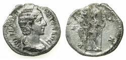 Ancient Coins - ROMAN.Julia Maesa Augustra AD 222-235.AR.Denarus.Mint of ROME.~#~.Vesta.