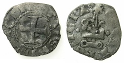 World Coins - GREECE.Principality of ACHAIA. Ferdinand of Majorca, Pretenda AD 1313-1315/16.Billon Denier. Mint of CLARENCIA. *****VERY RARE *****