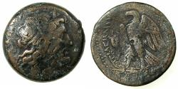 Ancient Coins - PTOLEMAIC EMPIRE.PHOENICIA.Ptolemy II Philadelphos 285-246 BC.AE.36.9mm. Mint of SIDON.