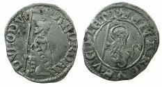 World Coins - ITALY.VENICE.Andrea Dandolo AD 1343-1354.AR.Soldino Vecchio.