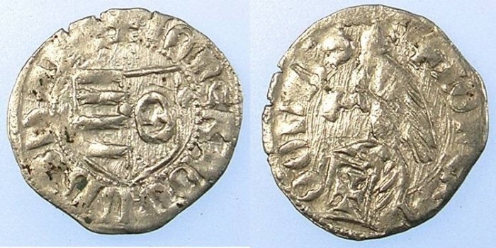 Ancient Coins - ROMANIA.VOIVODES OF WALLACHIA.Radu I 1377-1383.Denier.