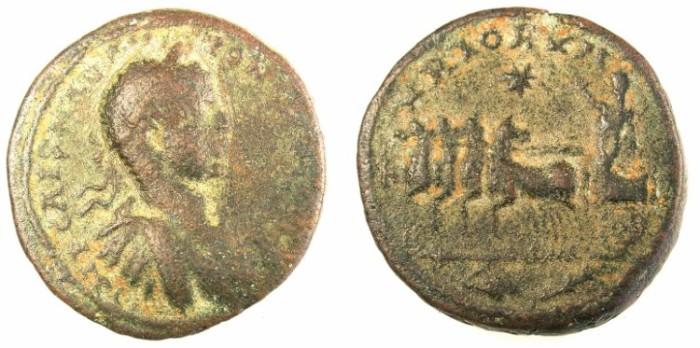 Ancient Coins - PHEONICIA.TYRE.Elagabalus AD 218-222.AE.28.Rev.Emperor in quadriga.