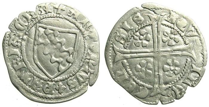 Ancient Coins - ITALY.AQUILEIA.Antonio I Caetani AD 1395-1402.AR.Denaro