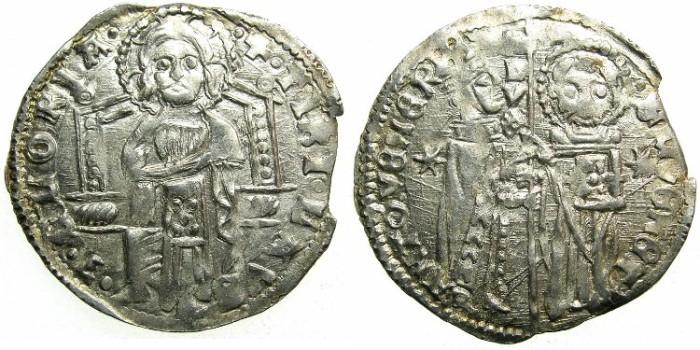 Ancient Coins - ITALY.VENICE.Antonio Venier 1382-1400.AR.Grosso.3rd Type.No sigla.