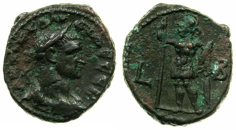 Ancient Coins - EGYPT.ALEXANDRIA.Claudius II Gothicus AD 268-270.Billon Tetradrachm, struck AD 269/70.~#~.Ares standing.
