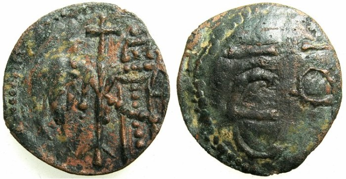 Ancient Coins - BULGARIA.Ivan Alexander and Theodora AD 1331-1371.AE.Trachy.