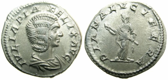 Ancient Coins - ROMAN.Julia Domna Augusta under Caracalla AD 211-217.AR.Denarius.~~~DIANA.