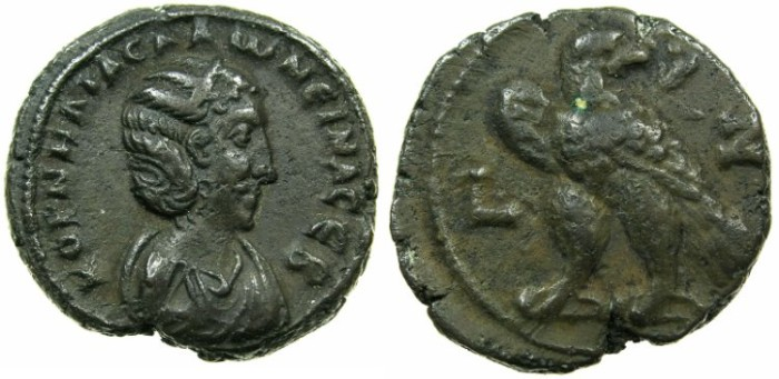 Ancient Coins - EGYPT.ALEXANDRIA.Cornelia Salonina, wife of Gallienus AD 253-268.Billon Tetradrachm, struck AD 259/60.