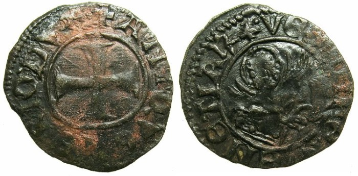 Ancient Coins - CRUSADER.GREECE under VENICE.Antonio Venier AD 1382-1400. Bi.Tornesello.