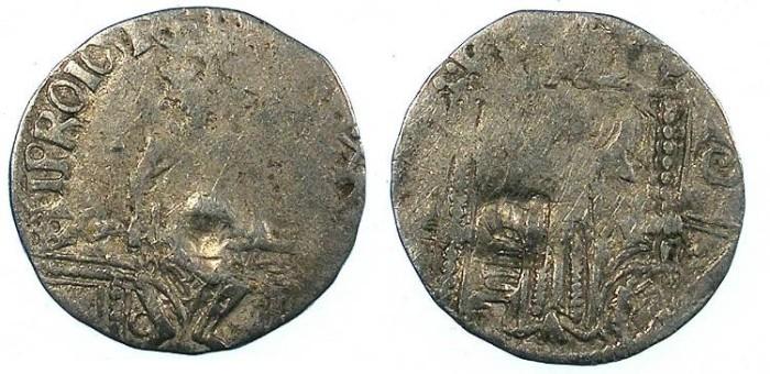 Ancient Coins - SERBIA.Stefan VIII Uros IV Dusan, as Emperor 1346-1355.AR.Dinar.c/m Bird.