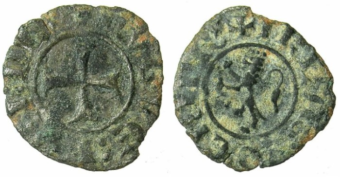 Ancient Coins - CRUSADER.CYPRUS.Hugh III AD 1267-1284.Bi.Denier.