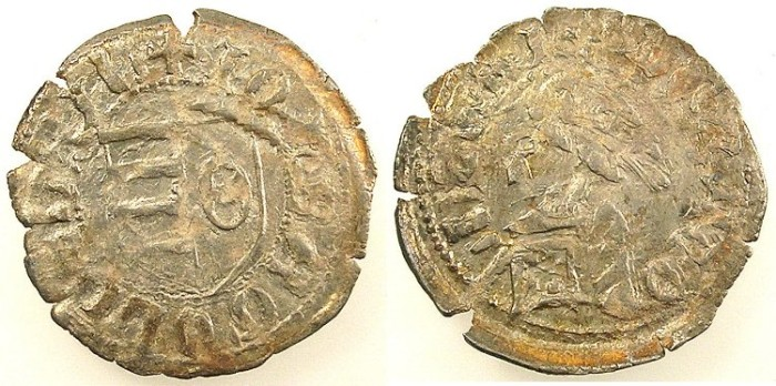 Ancient Coins - ROMANIA.Voivodes of Wallachia.Radu I AD 1377-1387.Be.Denier
