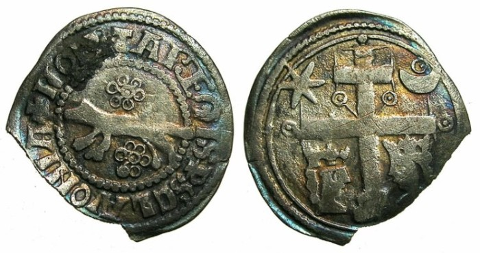 Ancient Coins - CROATIA (SLOVAKIA).Bela IV AD 1235-1270.Herzog Koloman AD 1235-1241 and Dan Dioniz AD 1242-1245.AR.Banovco.