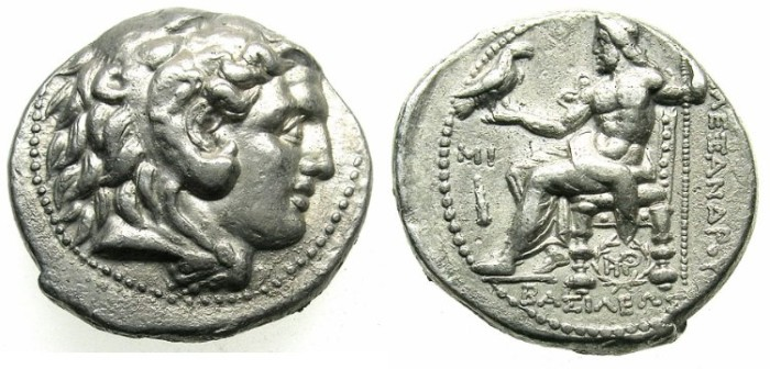 Ancient Coins - SYRIA.Seleukos I Nikator 312-281 BC.AR.Tetradrachm.BYBLOS mint.Struck in the name of Alexander The Great.