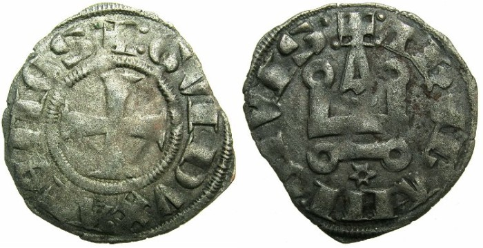 World Coins - CRUSADER STATES. ATHENS.Guy II of la Roche AD 1287-1308.Bi.Denier.Type 2.