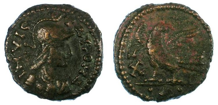 Ancient Coins - Ostrogothic.Rome.Non regal issue of Theodoric and Athalaric.AE.Follis