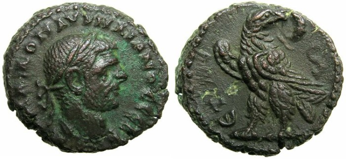 Ancient Coins - EGYPT.ALEXANDRIA.Aurelian AD 270-275.Billon Tetradrachm, struck AD 274/275.~#~.Eagle.