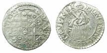 World Coins - GERMANY.TRIER.Archdiocese. Johann Hugo von Orsbeck AD 1676-1711.AR.Petermenger ( 1 Albus ) 1681.Latin numerials.