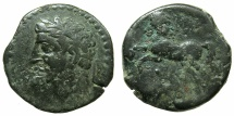 Ancient Coins - NUMIDIA.Massinissa or Micipsa circa 203-148-118 BC.AE.25.5mm