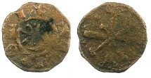 Ancient Coins - CRUSADER.County of Tripoli.Raymond III 1152-1187.AE.Fraction.Type 2