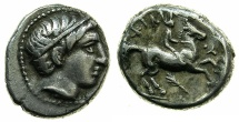Ancient Coins - MACEDON.Philip II 359-336 BC.AR.Fifth Tetradrachm, posthumus issue circa 323-316 BC.Mint of AMPHIPOLIS