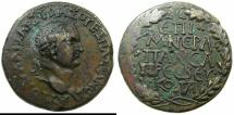 Ancient Coins - GALATIA, Koinon of.Vespasian AD 69-79.AE.30.2mm.Struck by Legatus M.Hirrus Frouto Neratius Pausa. *****SINGLE EXAMPLE RECORDED IN RPC II.