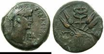 Ancient Coins - EGYPT.ALEXANDRIA.Claudius AD 41-54.AE.Diobol, stuck AD 50/51.~#~.Caduceus.
