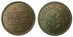 World Coins - PALESTINE.British Mandate 1920-1948AE.1 Mil 1937