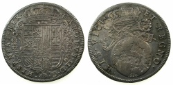 World Coins - ITALY.NAPLES.Charles II 2nd period as king of Naples 1674-1700.AR.Tari 1684