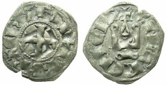 World Coins - CRUSADER.Principality of ACHAIA.Philip de Tarante AD 1307-1313.Bi.Denier.Type 2
