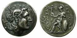 Ancient Coins - THRACE.Lysimachus AD 305-281.'Electroype'Tetradrachm, mint of Magnesia..British Museum electrotype by Robert Ready.