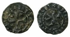 World Coins - CRUSADER STATES.CYPRUS. Janus AD 1398-1432.Billon Denier. ****Transposed legends ***