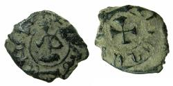 World Coins - ARMENIA, Cilician kingdom. Levon III 1301-1307.AE.Kardez.Mint of SIS. Obverse. King seated in oriental fashion.
