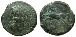 Ancient Coins - NUMIDIA.Massinissa or Micipsa circa 203-148-118 BC.AE.25.5mm