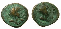Ancient Coins - CILICIA.ANAZARBUS.Pseudo Autonomous.Time of Trajan.AE.18mm. Bust of Demeter both sides.