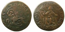 World Coins - VENICE.Alvise Mocenigo IV AD 1763-1778.Contemporary copy in Copper after Silver 15 Soldi 1777.