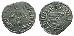 World Coins - HUNGARY.Loius I of Anjou AD 1342-1382.AR.Dinar.