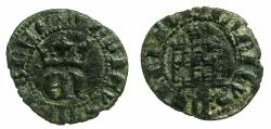 World Coins - SPAIN.CASTILE AND LEON.Henry II AD 1368-1379.Billon. One-third real.Mint of SEVILLE.