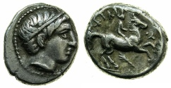 Ancient Coins - MACEDON.Philip II 359-336 BC.AR.Fifth Tetradrachm, posthumus issue circa 323-316 BC.Mint of AMPHIPOLIS